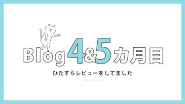 ブログ開始4カ月目&5カ月目【90記事突破&8,000PV達成】